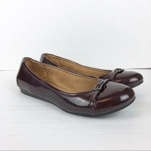 Naturalizer faux patent leather burgundy flats 9.5